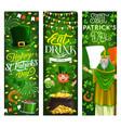 st patrick day leprechaun and irish paddy man vector image vector image
