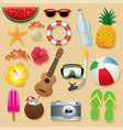 summer beach item set vector image