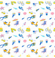 summer beach tropical party icons seamless travel vector image