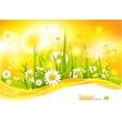 Sunny bright background vector image vector image