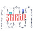 the concept of a startup infographic icons vector image vector image