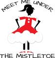 The Mistletoe vector image vector image