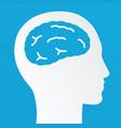 thinking man creative brain idea concept vector image vector image