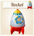 Toy rocket Cartoon Series of vector image