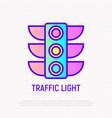 traffic lights thin line icon vector image