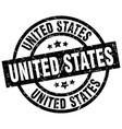 united states black round grunge stamp vector image