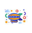 vintage airship colorful toy air vehicle vector image