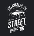 vintage roadster car logo vector image vector image
