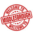 welcome to middlesbrough vector image vector image