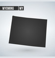 wyoming outline map black usa state borders black vector image vector image