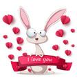 crazy rabbit - valentine day vector image