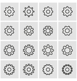 line gear icon set vector image