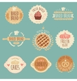 Bakery Labels Set Bread Vintage vector image