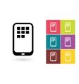 Smartphone icon or mobile symbol vector image