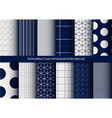 abstract classy navy seamless pattern set vector image vector image