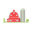 american farm icon in flat style vector image vector image