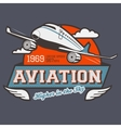 Aviation label t-shirt vector image vector image