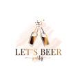 beer bottle splash watercolor logo on white vector image vector image