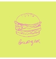 Burger Handdrawn vector image