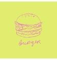 Burger Handdrawn vector image vector image