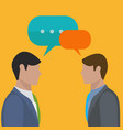 businessmen talking and discussing business vector image