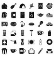 cafe icons set simple style vector image vector image