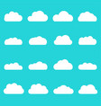 clouds icon set different cloud shapes isolated vector image vector image