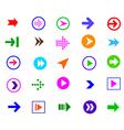 colorful arrow vector image vector image