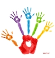 Colourful handprint paint vector image