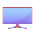 computer monitor or display on isolated background vector image