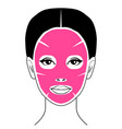 cosmetic face mask vector image