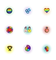 Culture LGBT icons set pop-art style vector image vector image