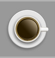cup of coffee above vector image