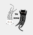 cute cat childish print perfect for t-shirt vector image vector image