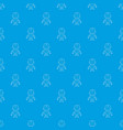 disinfector pattern seamless blue vector image vector image