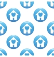 Family house sign pattern vector image vector image