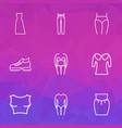 fashionable icons line style set with high waist vector image
