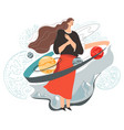 female character in cosmos mother nature vector image