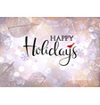 festive winter background of bokeh lights with vector image vector image