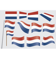 flags of Netherlands vector image vector image