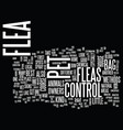 flea control for home and pet owners text vector image vector image