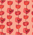 floral seamless pattern flower background vector image vector image