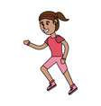 girl doing workout fitness vector image vector image