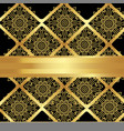 golden pattern of flowers and rhombus vector image vector image
