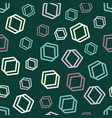green geometrical hexagon seamless pattern vector image vector image
