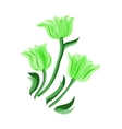 Green tulips set vector image