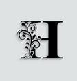 h letter black flower alphabet beautiful capital