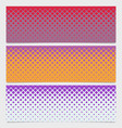 halftone diagonal square pattern banner design set vector image vector image