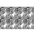 Hand drawn black brush abstract spiral seamless vector image