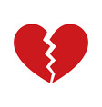 heartbreak broken heart or divorce icon vector image vector image